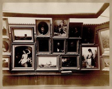 "<em>""Brooklyn Art Association, first chronological exhibition of American art [March 1872]. Installation view 06.""</em>, 1872. Bw photograph (original print), 9 x 7in (23 x 18cm). Brooklyn Museum, BAA1872. (N858_Un3_B78_1872b_007.jpg"