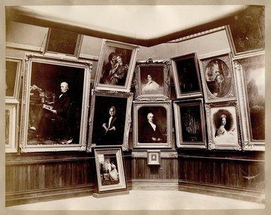 "<em>""Brooklyn Art Association, first chronological exhibition of American art [March 1872]. Installation view 07.""</em>, 1872. Bw photograph (original print), 9 x 7in (23 x 18cm). Brooklyn Museum, BAA1872. (N858_Un3_B78_1872b_008.jpg"