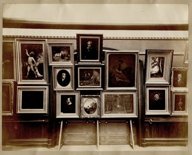 "<em>""Brooklyn Art Association, first chronological exhibition of American art [March 1872]. Installation view 08.""</em>, 1872. Bw photograph (original print), 9 x 7in (23 x 18cm). Brooklyn Museum, BAA1872. (N858_Un3_B78_1872b_010.jpg"