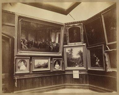 "<em>""Brooklyn Art Association, first chronological exhibition of American art [March 1872]. Installation view 10.""</em>, 1872. Bw photograph (original print), 9 x 7in (23 x 18cm). Brooklyn Museum, BAA1872. (N858_Un3_B78_1872b_012.jpg"