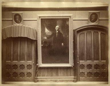 "<em>""Brooklyn Art Association, first chronological exhibition of American art [March 1872]. Installation view 11: Charles Gilbert Stuart, Portrait of George Washington.""</em>, 1872. Bw photograph (original print), 9 x 7in (23 x 18cm). Brooklyn Museum, BAA1872. (N858_Un3_B78_1872b_013.jpg"