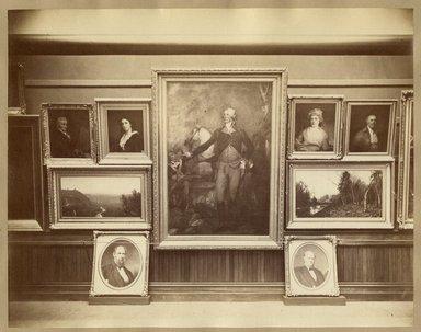 "<em>""Brooklyn Art Association, first chronological exhibition of American art [March 1872]. Installation view 12.""</em>, 1872. Bw photograph (original print), 9 x 7in (23 x 18cm). Brooklyn Museum, BAA1872. (N858_Un3_B78_1872b_014.jpg"