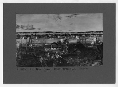 """<em>""""A View of New York from Brooklyn Heights.""""</em>. Bw photograph, 5.5 x 9in (14 x 22.9cm). Brooklyn Museum, CHART_2012. (NA202_C68_box1_view_of_NYC_from_Brooklyn.jpg"""