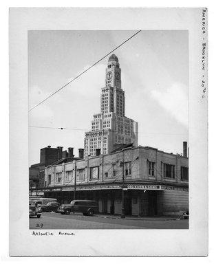 "<em>""Atlantic Avenue.""</em>. Bw photograph, 9.5 x 7.5in (24.1 x 19.1cm). Brooklyn Museum, CHART_2012. (NA202_C68_box2_Atlantic_Avenue.jpg"