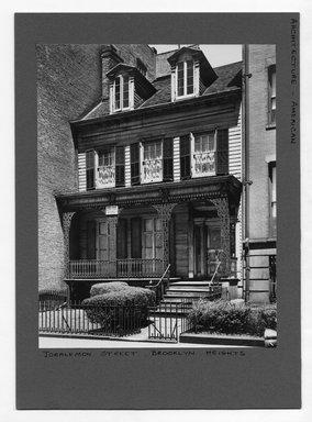 "<em>""Joralemon Street,  Brooklyn Heights.""</em>. Bw photograph, 9.5 x 7.5in (24.1 x 19.1cm). Brooklyn Museum, CHART_2012. (NA202_C68_box3_Joralemon_Street.jpg"