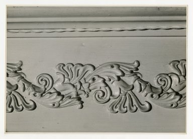 "<em>""Design side of floor between first floor ceiling and 2nd floor. Lay House, 11 Cranberry Street, Brooklyn, N.Y. (detail).""</em>. Bw photographic print, 5 x 7 in (13 x 16 cm). Brooklyn Museum, CHART_2011. (Photo: Brooklyn Museum, NA735_B8_L45_Lay_House_neg1568-Q_print.jpg"
