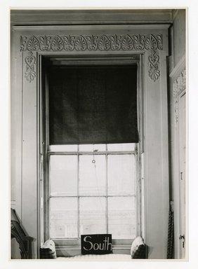 "<em>""Window, 2nd floor looking north. Lay House, 11 Cranberry Street, Brooklyn, N.Y.""</em>. Bw photographic print, 5 x 7 in (13 x 16 cm). Brooklyn Museum, CHART_2011. (Photo: Brooklyn Museum, NA735_B8_L45_Lay_House_neg1568-S_print.jpg"