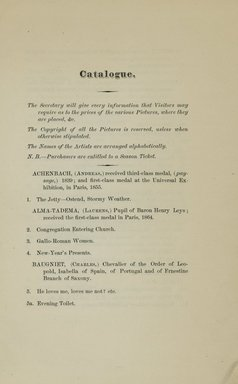 """<em>""""Checklist.""""</em>, 1866. Printed material. Brooklyn Museum, NYARC Documenting the Gilded Age phase 2. (Photo: New York Art Resources Consortium, ND1196_G14_0007.jpg"""