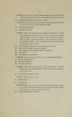 """<em>""""Checklist.""""</em>, 1866. Printed material. Brooklyn Museum, NYARC Documenting the Gilded Age phase 2. (Photo: New York Art Resources Consortium, ND1196_G14_0010.jpg"""