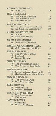 "<em>""Checklist""</em>, 1922. Printed material. Brooklyn Museum, NYARC Documenting the Gilded Age phase 2. (Photo: New York Art Resources Consortium, NE1410_B81a_0003.jpg"