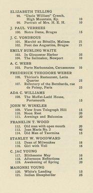 "<em>""Checklist""</em>, 1922. Printed material. Brooklyn Museum, NYARC Documenting the Gilded Age phase 2. (Photo: New York Art Resources Consortium, NE1410_B81a_0006.jpg"