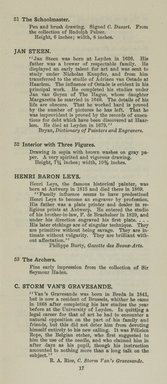 "<em>""Checklist""</em>, 1915. Printed material. Brooklyn Museum, NYARC Documenting the Gilded Age phase 2. (Photo: New York Art Resources Consortium, NE1410_K44d_0019.jpg"