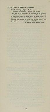 "<em>""Checklist""</em>, 1915. Printed material. Brooklyn Museum, NYARC Documenting the Gilded Age phase 2. (Photo: New York Art Resources Consortium, NE1410_K44d_0024.jpg"