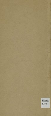 """<em>""""Back cover.""""</em>, 1915. Printed material. Brooklyn Museum, NYARC Documenting the Gilded Age phase 2. (Photo: New York Art Resources Consortium, NE1410_K44d_0028.jpg"""