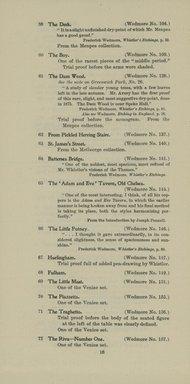 "<em>""Checklist.""</em>, 1905. Printed material. Brooklyn Museum, NYARC Documenting the Gilded Age phase 2. (Photo: New York Art Resources Consortium, NE300_W57_K44_1905_0018.jpg"