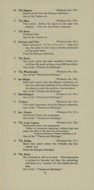 "<em>""Checklist.""</em>, 1905. Printed material. Brooklyn Museum, NYARC Documenting the Gilded Age phase 2. (Photo: New York Art Resources Consortium, NE300_W57_K44_1905_0019.jpg"