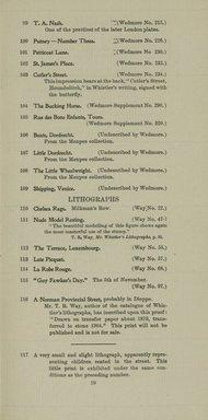 "<em>""Checklist.""</em>, 1905. Printed material. Brooklyn Museum, NYARC Documenting the Gilded Age phase 2. (Photo: New York Art Resources Consortium, NE300_W57_K44_1905_0021.jpg"