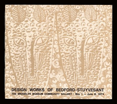 "<em>""Design Works of Bedford Stuyvesant, exhibition catalog cover.""</em>, 2012. Printed material. Brooklyn Museum. (Photo: Brooklyn Museum, NK1404_B79_Design_Works_cover_SL1.jpg"