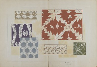 "<em>""Textile designs from Classical patterns for dyeing, volume 1, Monyo no maki.""</em>. Printed material, 17 x 12 in (30.5 x 48 cm). Brooklyn Museum. (Photo: Brooklyn Museum, NK8884_K17h_Hana_Shishu_v01_page02-03_PS3.jpg"