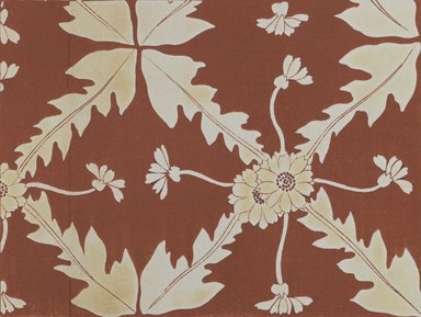 """<em>""""Textile designs from Classical patterns for dyeing, volume 1, Monyo no maki, detail.""""</em>. Printed material, 17 x 12 in (30.5 x 48 cm). Brooklyn Museum. (Photo: Brooklyn Museum, NK8884_K17h_Hana_Shishu_v01_page02-03_detail2_PS3.jpg"""