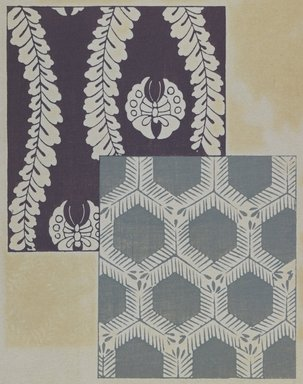 "<em>""Textile designs from Classical patterns for dyeing, volume 1, Monyo no maki, detail.""</em>. Printed material, 17 x 12 in (30.5 x 48 cm). Brooklyn Museum. (Photo: Brooklyn Museum, NK8884_K17h_Hana_Shishu_v01_page02-03_detail3_PS3.jpg"