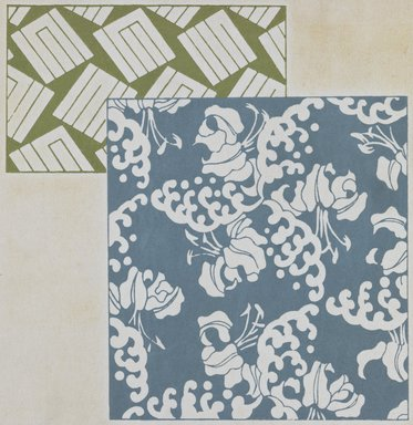 "<em>""Textile designs from Classical patterns for dyeing, volume 1, Monyo no maki, detail.""</em>. Printed material, 17 x 12 in (30.5 x 48 cm). Brooklyn Museum. (Photo: Brooklyn Museum, NK8884_K17h_Hana_Shishu_v01_page06-07_detail1_PS3.jpg"