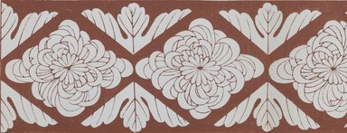 "<em>""Textile designs from Classical patterns for dyeing, volume 1, Monyo no maki, detail.""</em>. Printed material, 17 x 12 in (30.5 x 48 cm). Brooklyn Museum. (Photo: Brooklyn Museum, NK8884_K17h_Hana_Shishu_v01_page10-11_detail3_PS3.jpg"