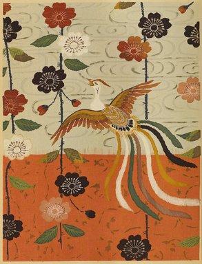 "<em>""Floral design with phoenix bird.""</em>. Published material. Brooklyn Museum. (Photo: Brooklyn Museum, NK8984_An2_vol6_pl02_PS9.jpg"
