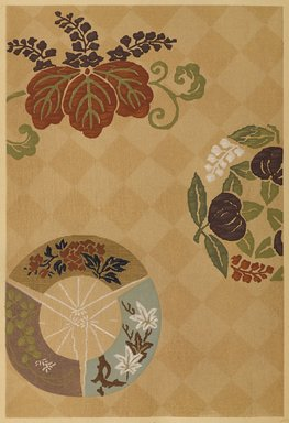 """<em>""""Floral design with circular vignettes.""""</em>. Published material. Brooklyn Museum. (Photo: Brooklyn Museum, NK8984_An2_vol6_pl08_PS9.jpg"""