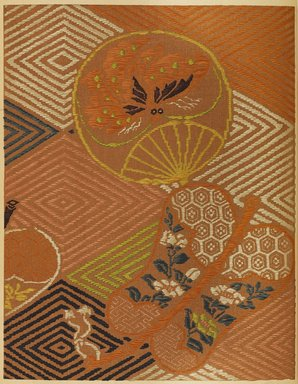 """<em>""""Geometric and floral design with fan-shaped elements.""""</em>. Published material. Brooklyn Museum. (Photo: Brooklyn Museum, NK8984_An2_vol6_pl10_PS9.jpg"""