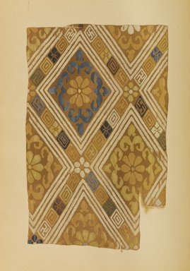 """<em>""""Geometric and floral design.""""</em>. Published material. Brooklyn Museum. (Photo: Brooklyn Museum, NK8984_An2_vol6_pl11_PS9.jpg"""