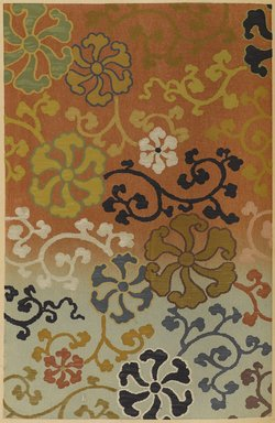 "<em>""Stylized floral and vine design.""</em>. Published material. Brooklyn Museum. (Photo: Brooklyn Museum, NK8984_An2_vol6_pl17_PS9.jpg"