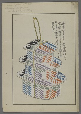 """<em>""""Japanese toys, from Unai no tomo (A Child's Friends) by Shimizu Seifu, 1891-1923. Box tower.""""</em>. Printed material, 6 x 10 in. Brooklyn Museum. (Photo: Brooklyn Museum, S01_07.03.009_Japanese_019_PS4.jpg"""