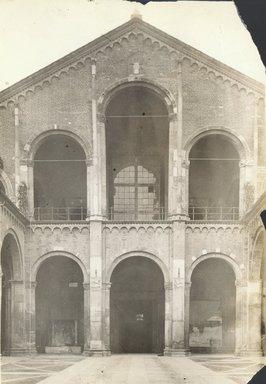 "<em>""S. Ambrogio, Milan, Italy, 1905""</em>, 1905. Bw photographic print 5x7in, 5 x 7 in. Brooklyn Museum, Goodyear. (Photo: Brooklyn Museum, S03i0007v01.jpg"