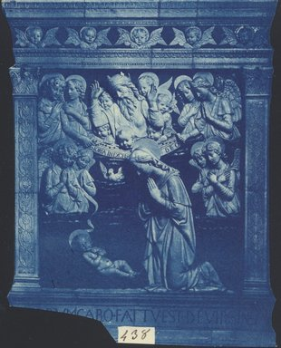 "<em>""Andrea della Robbia, Vergine in Adorazione, Sanctuary of La Verna, Tuscany, Italy,  n.d.""</em>. Bw photographic print. Brooklyn Museum, Goodyear. (Photo: Brooklyn Museum, S03i0048v01.jpg"