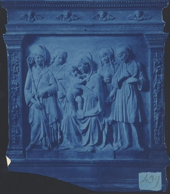 "<em>""Adrea della Robbia, Madonna and Child With Saints, Oratory of Our Lady of good Consel (San Ludovico's), Prato, Tuscany, Italy, n.d.""</em>. Bw photographic print. Brooklyn Museum, Goodyear. (Photo: Brooklyn Museum, S03i0049v01.jpg"