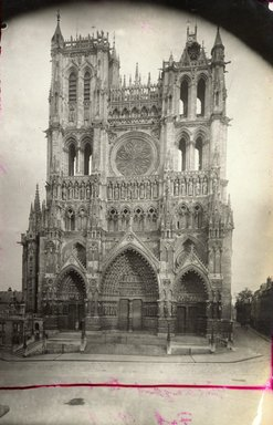 """<em>""""Cathedral, Amiens, France, 1903""""</em>, 1903. Bw photographic print 5x7in, 5 x 7 in. Brooklyn Museum, Goodyear. (Photo: Brooklyn Museum, S03i0714v01.jpg"""