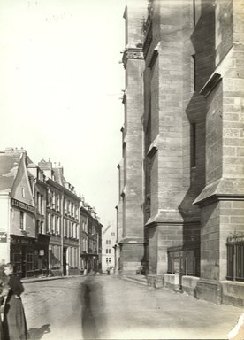 """<em>""""Cathedral, Amiens, France, 1903""""</em>, 1903. Bw photographic print 5x7in, 5 x 7 in. Brooklyn Museum, Goodyear. (Photo: Brooklyn Museum, S03i0725v01.jpg"""