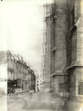 """<em>""""Cathedral, Amiens, France, 1903""""</em>, 1903. Bw photographic print 5x7in, 5 x 7 in. Brooklyn Museum, Goodyear. (Photo: Brooklyn Museum, S03i0726v01.jpg"""