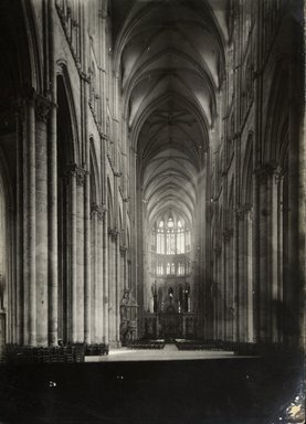 """<em>""""Cathedral, Amiens, France, 1903""""</em>, 1903. Bw photographic print 5x7in, 5 x 7 in. Brooklyn Museum, Goodyear. (Photo: Brooklyn Museum, S03i0728v01.jpg"""