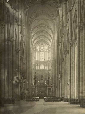 """<em>""""Cathedral, Amiens, France, 1903""""</em>, 1903. Bw photographic print 5x7in, 5 x 7 in. Brooklyn Museum, Goodyear. (Photo: Brooklyn Museum, S03i0729v01.jpg"""