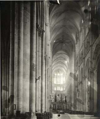 """<em>""""Cathedral, Amiens, France, 1903""""</em>, 1903. Bw photographic print 5x7in, 5 x 7 in. Brooklyn Museum, Goodyear. (Photo: Brooklyn Museum, S03i0731v01.jpg"""