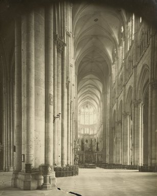 """<em>""""Cathedral, Amiens, France, 1903""""</em>, 1903. Bw photographic print 5x7in, 5 x 7 in. Brooklyn Museum, Goodyear. (Photo: Brooklyn Museum, S03i0732v01.jpg"""