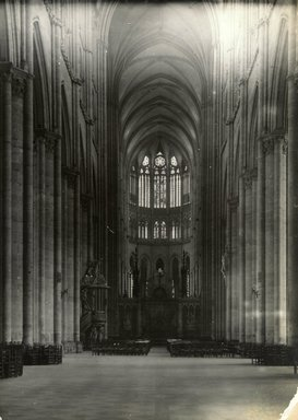 """<em>""""Cathedral, Amiens, France, 1903""""</em>, 1903. Bw photographic print 5x7in, 5 x 7 in. Brooklyn Museum, Goodyear. (Photo: Brooklyn Museum, S03i0733v01.jpg"""