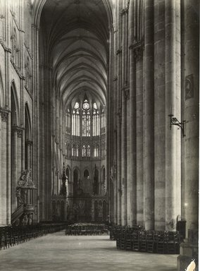"""<em>""""Cathedral, Amiens, France, 1903""""</em>, 1903. Bw photographic print 5x7in, 5 x 7 in. Brooklyn Museum, Goodyear. (Photo: Brooklyn Museum, S03i0734v01.jpg"""