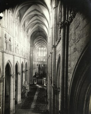 """<em>""""Cathedral, Amiens, France, 1903""""</em>, 1903. Bw photographic print 5x7in, 5 x 7 in. Brooklyn Museum, Goodyear. (Photo: Brooklyn Museum, S03i0736v01.jpg"""