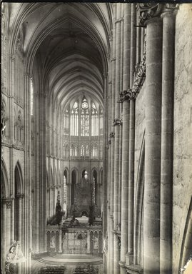 """<em>""""Cathedral, Amiens, France, 1903""""</em>, 1903. Bw photographic print 5x7in, 5 x 7 in. Brooklyn Museum, Goodyear. (Photo: Brooklyn Museum, S03i0737v01.jpg"""