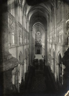 """<em>""""Cathedral, Amiens, France, 1903""""</em>, 1903. Bw photographic print 5x7in, 5 x 7 in. Brooklyn Museum, Goodyear. (Photo: Brooklyn Museum, S03i0739v01.jpg"""