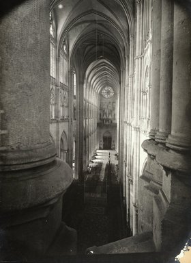 """<em>""""Cathedral, Amiens, France, 1903""""</em>, 1903. Bw photographic print 5x7in, 5 x 7 in. Brooklyn Museum, Goodyear. (Photo: Brooklyn Museum, S03i0740v01.jpg"""