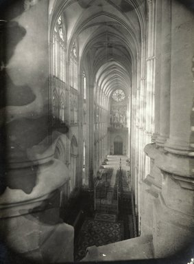 """<em>""""Cathedral, Amiens, France, 1903""""</em>, 1903. Bw photographic print 5x7in, 5 x 7 in. Brooklyn Museum, Goodyear. (Photo: Brooklyn Museum, S03i0741v01.jpg"""